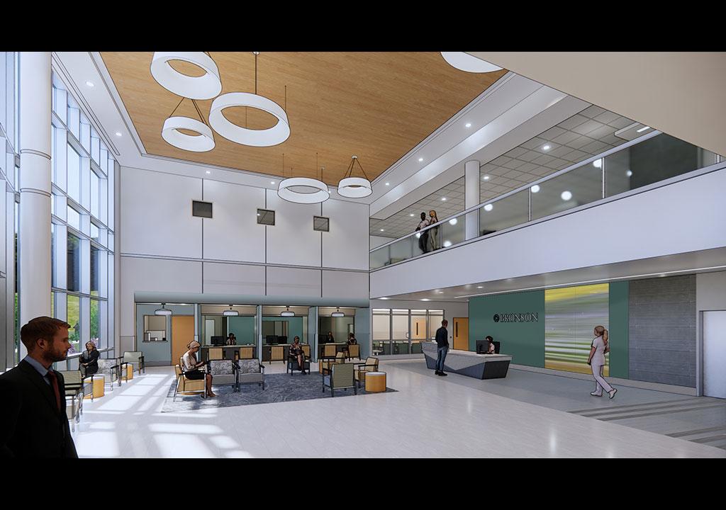 Bronson South Haven Hospital Interior Rendering